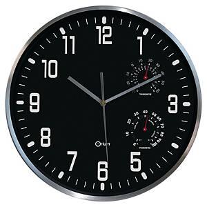 CEP THERMO HYGRO CLOCK BLK/ALU