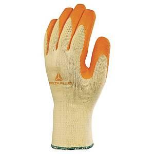 Deltaplus Pair Latex Gripper Gloves Orange/ Yellow - Size 8