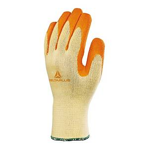Latex Gripper Gloves Orange/Yellow Size 9 (Pair)