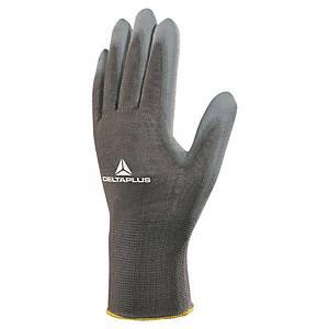 Viacúčelové rukavice DELTAPLUS VE702PG, veľkosť 7, sivé, 12 párov