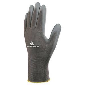 NÁHRADA: Víceúčelové rukavice DELTA PLUS VE702P, vel. 8, černé, 12 párů