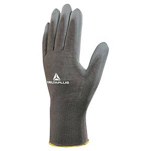 DELTAPLUS VE702PG multipurpose gloves, size 9, grey, 12 pairs