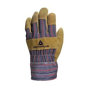 Deltaplus Docker Red/Grey Leather Gloves - Size 10