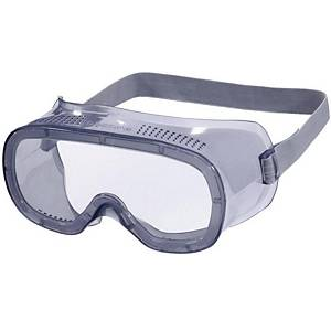 Polycarbonate Direct Ventilation Safety Goggles Grey Frame Clear Lens