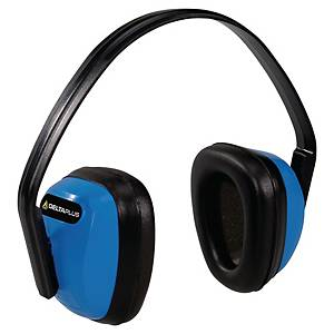 Nauszniki przeciwhałasowe, czarno-niebieskie, SNR 28