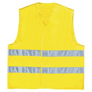 HI-VIS WAISTCOAT PARALLEL BAND YLLW L