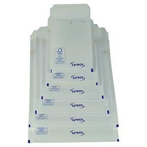 Lyreco papieren luchtkussenenveloppen, 220 x 265 mm, wit, pak van 100 stuks