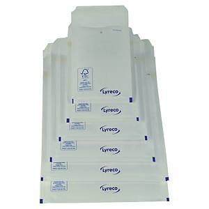 Lyreco papieren luchtkussenenveloppen, 240 x 340 mm, wit, pak van 100 stuks