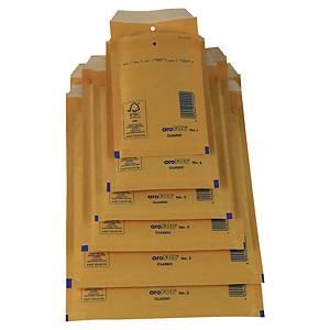 Pack de 100 sacos de bolhas AroFol n.º 13 - 215 x 150 mm - Kraft