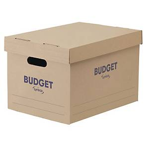 Lyreco Budget Storage Box 284x383x252mm Brown - Pack Of 10