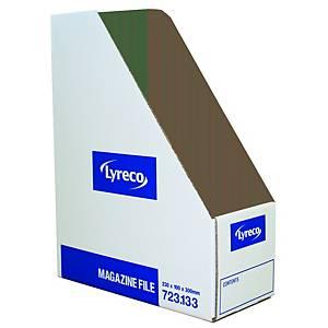 Lyreco Magazine File 100x230x300mm White - Pack Of 10