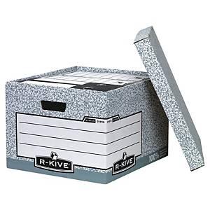 Bankers Box grote opbergdoos, karton, wit-grijs, FSC, per 10 dozen