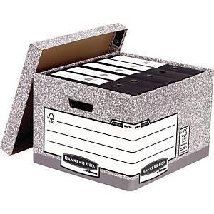 Opbevaringskasse Bankers Box System, stor, pakke a 10 stk.