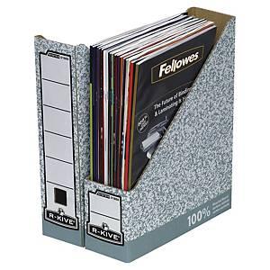 Stojan na časopisy Fellowes R-Kive šedo-bílý