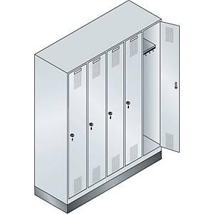 Garderobeskab CP Evolo med ben 5 rum 150 cm grå/grå