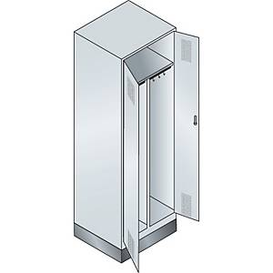 Garderobeskab CP Evolo med base 1 rum 2 døre 60 cm grå