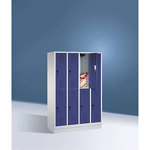 Garderobeskab CP Evolo med base 4 x 2 rum 120 cm blå/grå