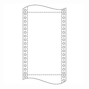 Papír tűs nyomtatókba, 60 g/m², 1 + 0 réteg, 210 mm x 12 , 3600 ív/karton