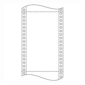 Papier do ihličkových tlačiarní, 60 g/m²,  21 x 30,5 cm, 1+0 vrstva