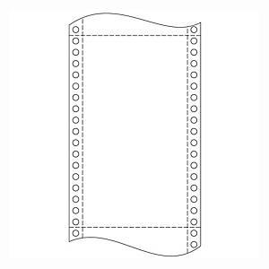 Papír tűs nyomtatókba, 54 + 54 g/m², 1 + 1 réteg, 210 mm x 12 , 2 000 ív/karton