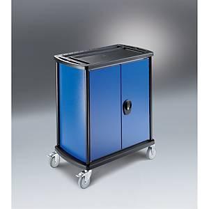 TROLLEY CAB 1SHELF 910X780X480MM GRY/BLU