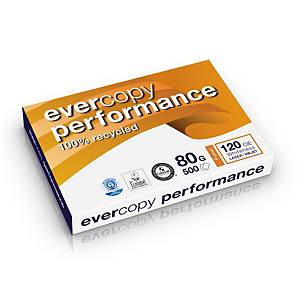 Clairefontaine Evercopy Performance gerecycleerd wit A3 papier, 80g, 5 x 500 vel