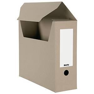 Boîte d'archives Biella en carton A4 10 cm brun, emballage de 10 pièces