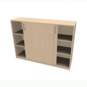 JIVE BOOK SLIDING 6RO 115X160X42CM BIRCH