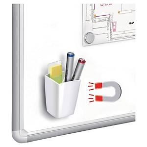 Pot à crayon CEP, pour tableaux blancs et 4 marqueurs, magn., blanc
