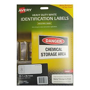 Avery L7063 Heavy Duty White Label 99.1 x 38.1mm - Pack of 350