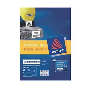 Avery L7068 Heavy Duty White Label 199.6X143.5mm - Box of 50
