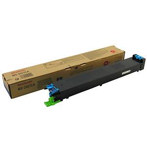 Sharp MX-31GTCA toner cartridge, cyaan