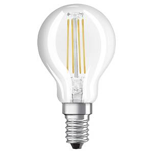 OSRAM LED STAR SPHERE BULB E14 40W CLEAR