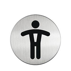 Durable Steel  WC GENT  Pictogram Sign 83mm