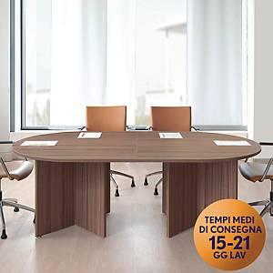 Tavolo riunione modulare TDM 6 posti L 216 x P 120 x H 74 cm rovere