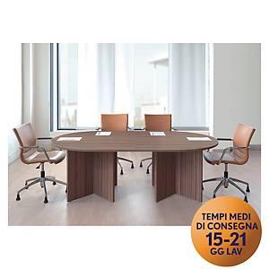 Tavolo riunione modulare TDM 6 posti L 216 x P 120 x H 74 cm noce