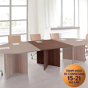 Modulo complementare TDM per tavolo riunione modulare L108 x P120 x H74 cm noce