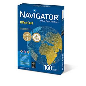 Kopierpapier Navigator Office Card A4, 160 g/m2, weiss, Pack à 250 Blatt