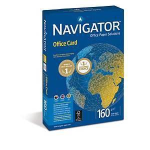 Resma de 250 folhas de papel Navigator Office Card - A4 - 160 g/m²