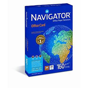 Paquete 250 hojas papel Navigator Office Card - A4 - 160 g/m2