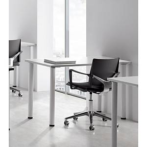 Mesa polivalente Ofitres - an. 800 mm - blanco/blanco