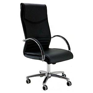 MAYUAG MANAGER CHAIR LTH BASCULANT BLACK