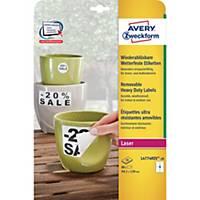 Avery Zweckform eltávolítható ellenálló címke, poliészter, 4 darab/ív