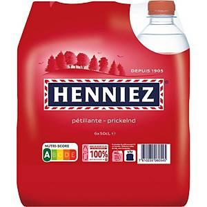 Henniez rot Mineralwasser mit Kohlensäure 50 cl, Packung à 6 Flaschen