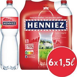 Henniez rot Mineralwasser mit Kohlensäure 1,5 l, Packung à 6 Flaschen