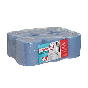 Wypall L10 centerfeed roll 525 sheets blue - pack of 6
