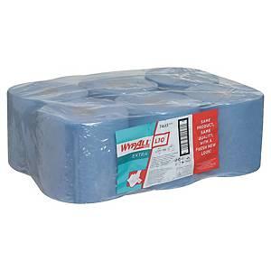 Pack de 6 bobinas industriais Wypall L10 - 199 m - Folha simples - azul