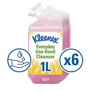 Kleenex Everyday Use Hand Cleanser Soap 6331, Pink, 6x1 Ltr (6 Ltr total)