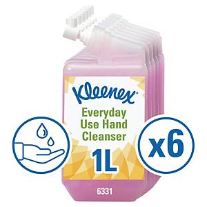 Pack de 6 recargas de sabonete líquido Kleenex Aquarius - 1 L
