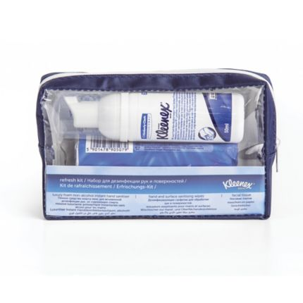 Kleenex Refresh Kit Hand Soap Wipes Facial Tissue